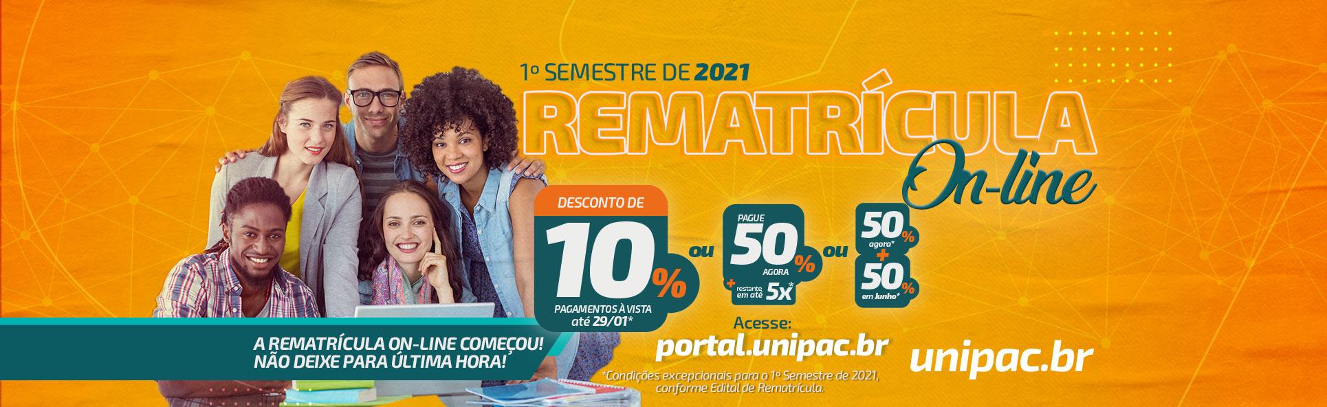 Rematrícula On-line – 12/01/2021 – desktop