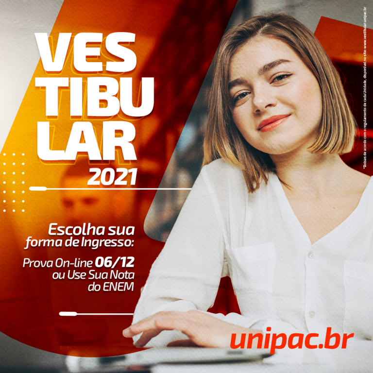 Vestibular UNIPAC 2021